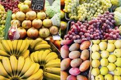 从水果市场的被分类的果子构成 库存图片