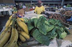 水果市场,多巴哥 库存照片