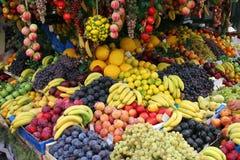 水果摊,罗马,意大利 免版税库存图片