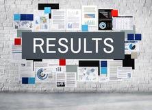 结果效率生产力评估进展概念 库存图片