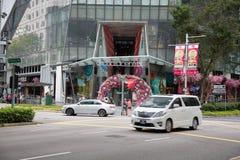 果树园中央是商城,新加坡 图库摄影
