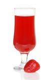 果汁喷趣酒草莓 免版税库存照片