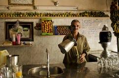 果汁界面在开罗埃及 库存图片