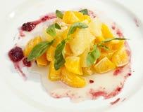 水果沙拉桔子葡萄柚 库存照片
