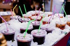 水果的饮料待售 库存图片