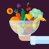 果菜类 平的例证样式 免版税图库摄影