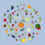 果菜类集合 向量例证