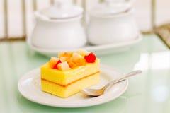 水果蛋糕-甜沙漠 免版税库存图片