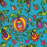 果蝇蝴蝶无缝的样式 免版税图库摄影