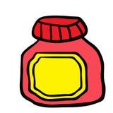 果酱瓶子 免版税库存图片