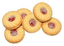 果酱被填装的饼干 免版税库存照片
