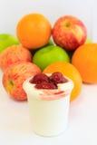 水果酸牛奶 免版税库存照片