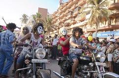 果阿狂欢节2019年,印度 免版税库存照片