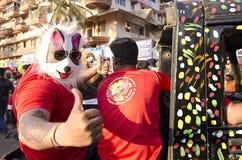 果阿狂欢节2019年,印度 免版税库存图片