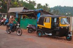 果阿,印度的街道场面 免版税库存图片