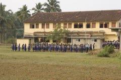 果阿,印度, DEC, 2015年:小孩子在学校在12月7日的果阿 库存图片