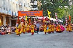 果阿,文化马戏团的Shigmo节日 免版税库存图片