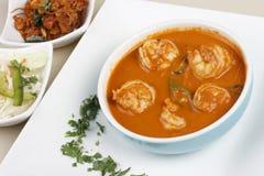 果阿从印度的大虾咖喱 免版税库存照片