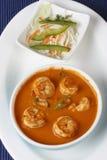 果阿从印度的大虾咖喱 库存照片