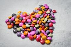 果冻五颜六色糖果的彩虹 库存图片
