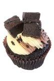 果仁巧克力杯形蛋糕 免版税图库摄影