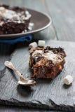 果仁巧克力用蛋白软糖和坚果 库存照片