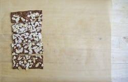 果仁巧克力薄脆饼干 库存照片
