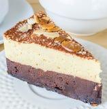 果仁巧克力蛋糕 免版税图库摄影