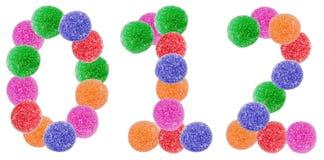 果冻糖果数字 库存照片