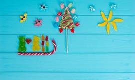 果冻糖果的快乐的图片以熊的形式在爱 库存图片