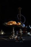 果仁蜜酥饼传统土耳其点心 图库摄影