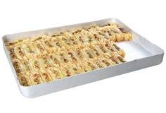 果仁蜜酥饼用开心果 免版税库存照片