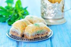 果仁蜜酥饼,土耳其点心 图库摄影