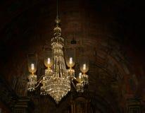 枝形吊灯在圣弗朗西斯教会, goa,印度里 库存图片