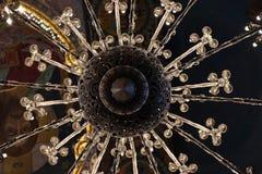 枝形吊灯在血液教会里在圣彼德堡在夏天在度假 图库摄影