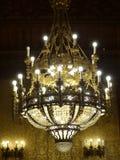 枝形吊灯在Szabà ³ Ervin图书馆,布达佩斯,匈牙利里 免版税库存图片
