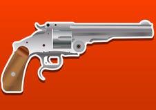 枪、手枪、手枪或者左轮手枪,例证 免版税库存图片