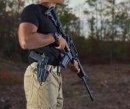 枪主 免版税图库摄影