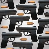 枪和子弹背景 免版税库存图片