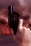 枪响场面 库存图片