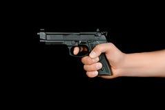 枪在手上 免版税图库摄影