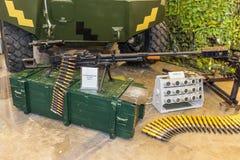枪大量设备 免版税库存照片