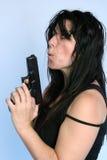 枪妇女 库存照片