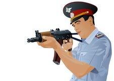 枪官员警察 皇族释放例证