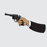 枪左轮手枪 也corel凹道例证向量 皇族释放例证