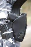枪手枪皮套 免版税库存照片