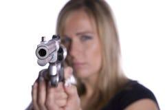 枪指向 免版税库存图片