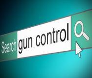 枪枝管制概念。 免版税库存图片