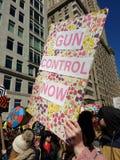 枪枝管制现在, NYC 3月我们的生活,抗议, NY,美国 库存照片