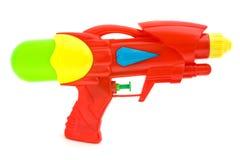 枪查出的塑料水白色 免版税库存图片